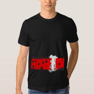 Pain is Progression Red Cross Tee Shirt