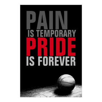 Pain is Temporary Pride is Forever Basketball Poster
