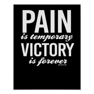 Pain is temporary - Victory is forever -   Guy Fit Poster
