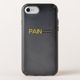 Pain is Temporary Workout Gym Funny Fitness Gift Speck iPhone Case