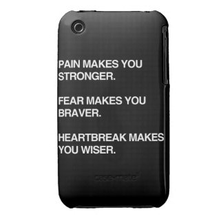 PAIN MAKES YOU STRONGER iPhone 3 COVER