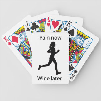Pain now wine later bicycle playing cards