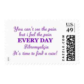 pain of fibro cure postage stamp