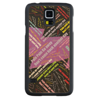 Pain Pain Go Away Carved Maple Galaxy S5 Slim Case