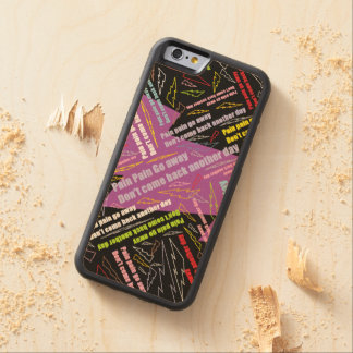 Pain Pain Go Away Carved Maple iPhone 6 Bumper Case