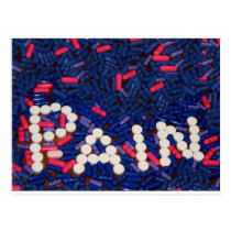 Pain Pills Postcard