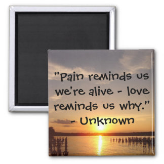 "Pain reminds us..."" Magnet"