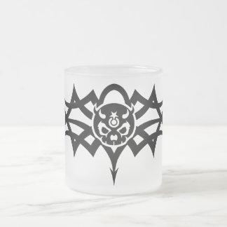 Pain Star  Black Tribal Logo Frosted Glass Coffee Mug