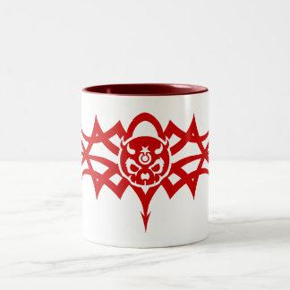 Pain Star Red Tribal Logo Mug