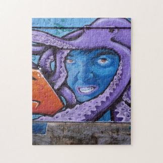 Pain Tentacles Graffiti Jigsaw Puzzles
