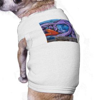 Pain Tentacles Grafitti Dog Tee Shirt