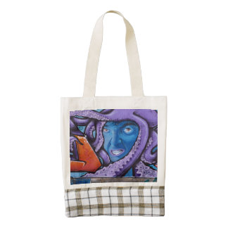 Pain Tentacles Grafitti Zazzle HEART Tote Bag