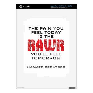 Pain Today - RAWR Tomorrow Skins For iPad 3