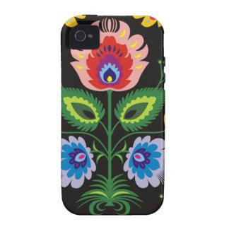 painel del imagem floral iPhone 4 carcasa