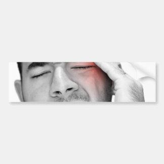 Painful Headache Man Healthcare Car Bumper Sticker
