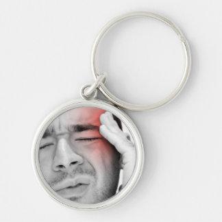 Painful Headache Man Healthcare Keychain