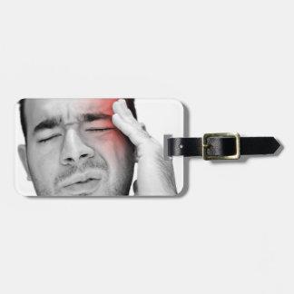 Painful Headache Man Healthcare Luggage Tag