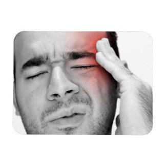 Painful Headache Man Healthcare Rectangular Photo Magnet