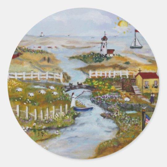 paint1 classic round sticker