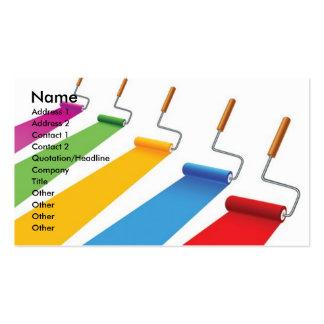 Paint1, nombre, dirección 1, dirección 2, contacto tarjetas personales