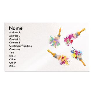 Paint3, nombre, dirección 1, dirección 2, contacto tarjetas de negocios
