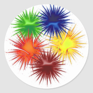 paint5 round sticker