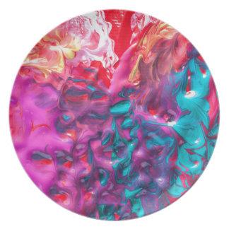 paint-358428 RANDOM ABSTRACT DIGITAL REALISM  pain Dinner Plates