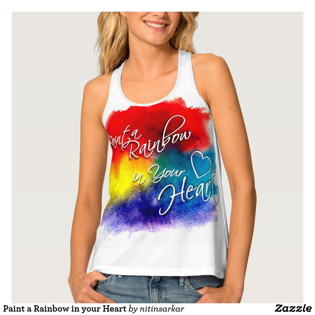 Paint a Rainbow in your Heart Tank Top