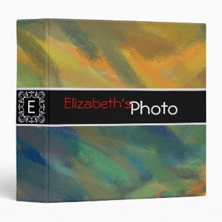 Paint Acrylic Abstract Album Photo Binder