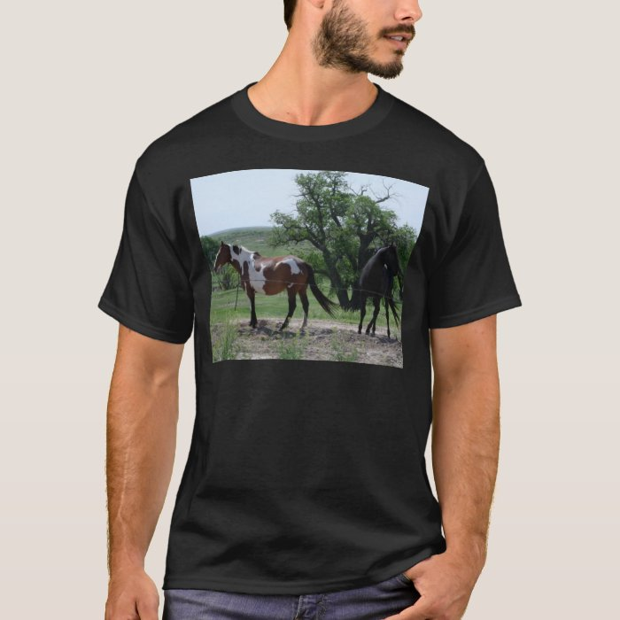 Paint and Black Horses T-Shirt