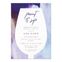 Paint and Sip Wine and Painting Party Invitation