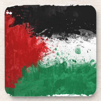 Paint Art Grunge Palestine Flag Drink Coaster