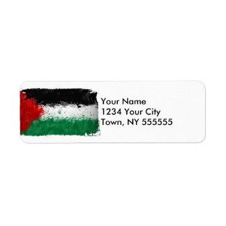 Paint Art Grunge Palestine Flag Label