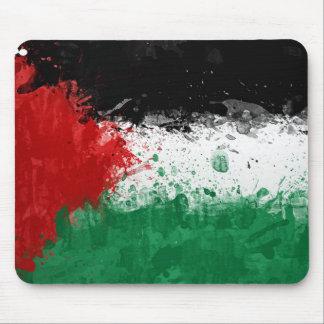 Paint Art Grunge Palestine Flag Mouse Pad