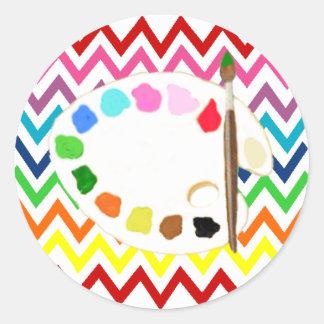 Paint/Art Party by Bella Bella Studios Classic Round Sticker
