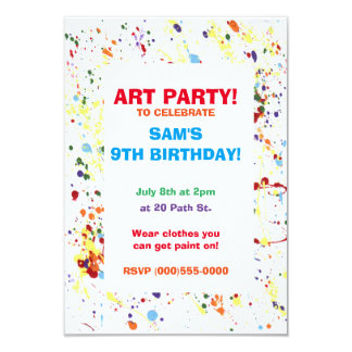 """Paint/Art Party"" Invitations"