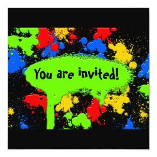 Paint Ball Invitation