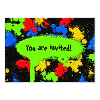 Paint Ball Invitation