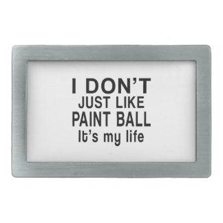 PAINT BALL IS MY LIFE RECTANGULAR BELT BUCKLE