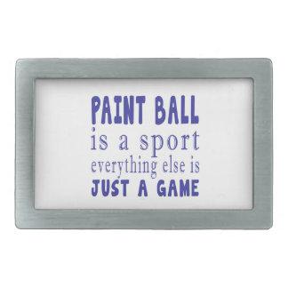 PAINT BALL JUST A GAME RECTANGULAR BELT BUCKLE