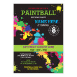 PAINT BALL PAINTBALL INVITE KIDS BIRTHDAY PARTY<br><div class='desc'>Fun PaintBall Party invite. Perfect for any age Boy or Girl&#39;s Birthday party...  SIMPLY CHANGE THE TEXT TO SUIT YOUR PARTY. Back print included.</div>