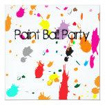 invitation, birthday, paint, ball, painting, art,