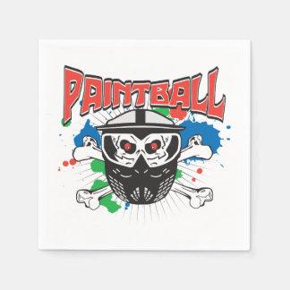 Paint Ball Skull Napkin