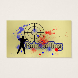 Paint Balling Business Cards