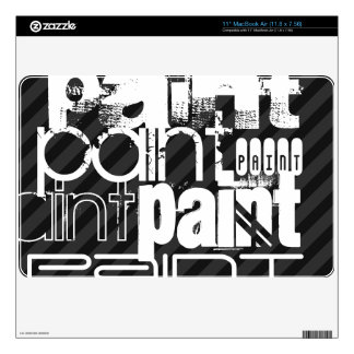 Paint; Black & Dark Gray Stripes Skins For The MacBook