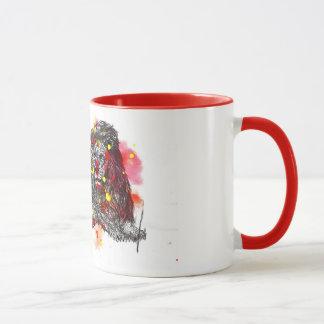 Paint Blotch Lion Mug