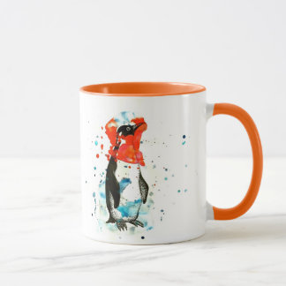 Paint Blotch Penguin Mug