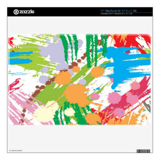 Paint Blotches Pattern MacBook Air Skin