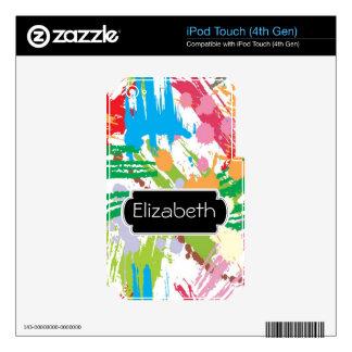 Paint Blotches Pattern Monogram MP3 Skin iPod Touch 4G Decals