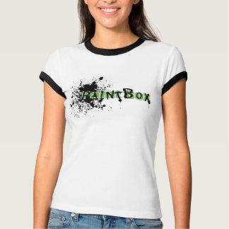 """Paint Box Ladies """"Splatter"""" logo - Ringer T Shirt"""